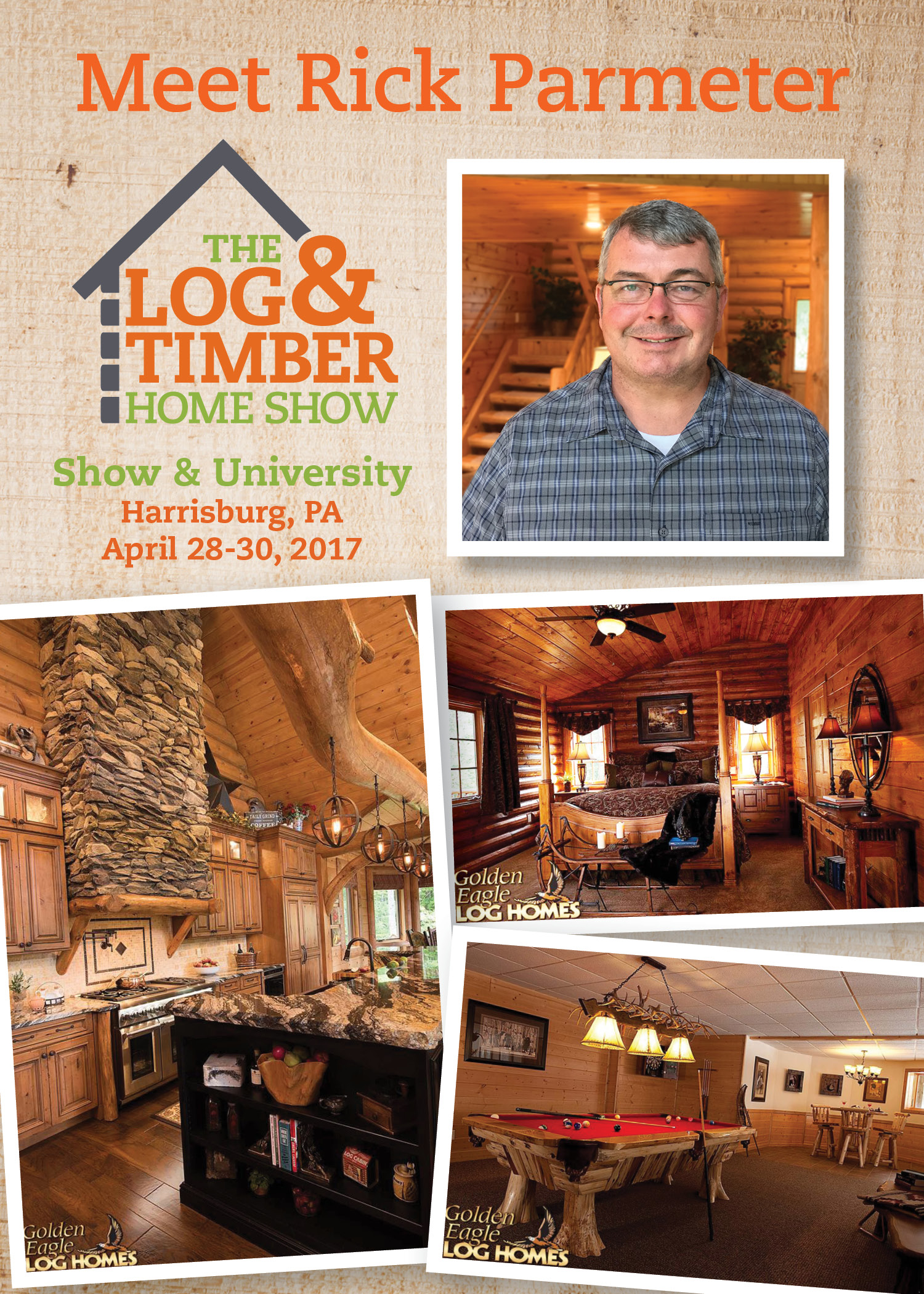 Harrisburg, PA Log & Timber Home Show | Workshop | April 28-30, 2017 | Golden Eagle Log Homes | Rick Parameter
