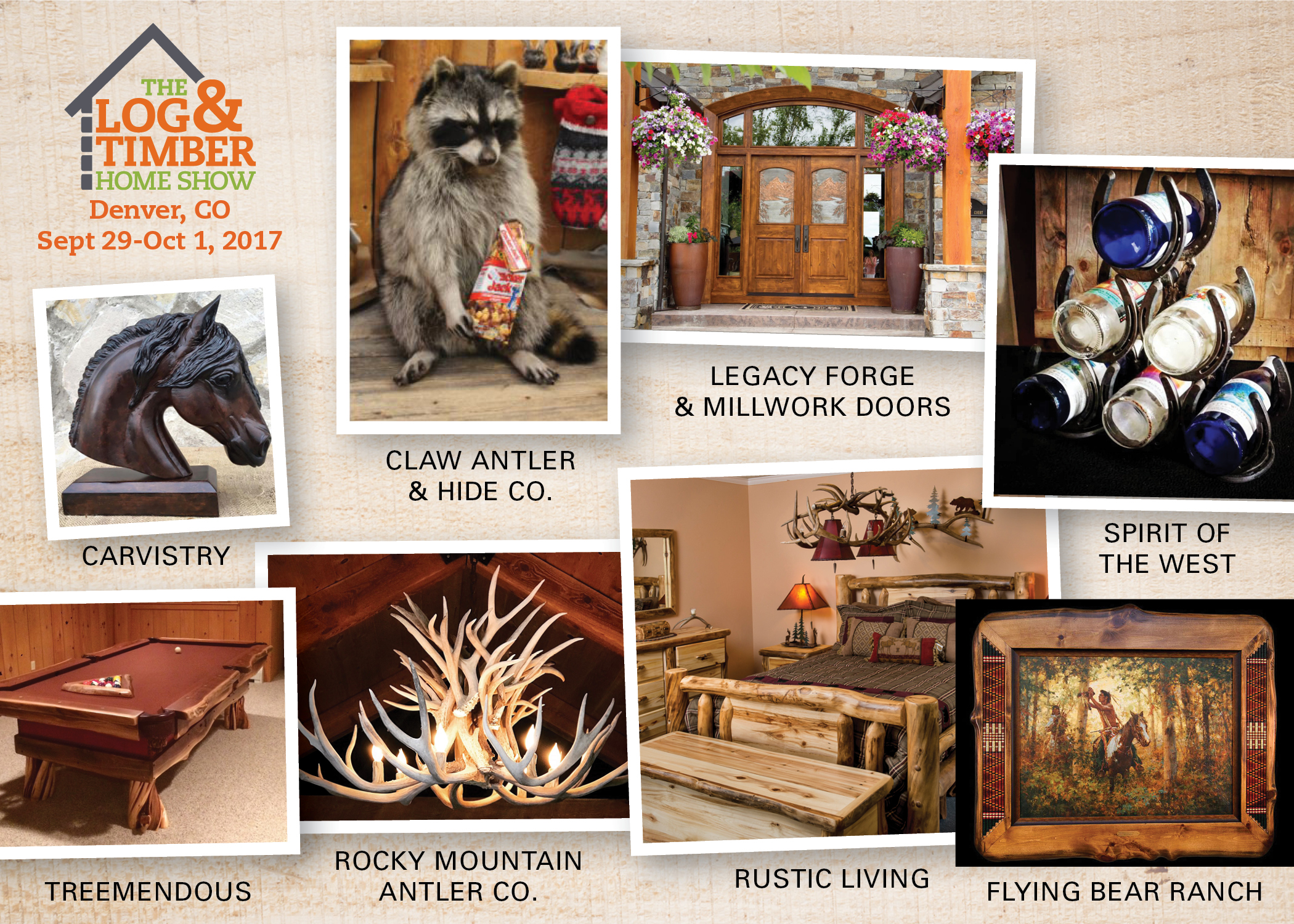 Denver co 2017 the log and timber home show denver co log rustic furniture corner sept 29 oct 1 2017 malvernweather Gallery