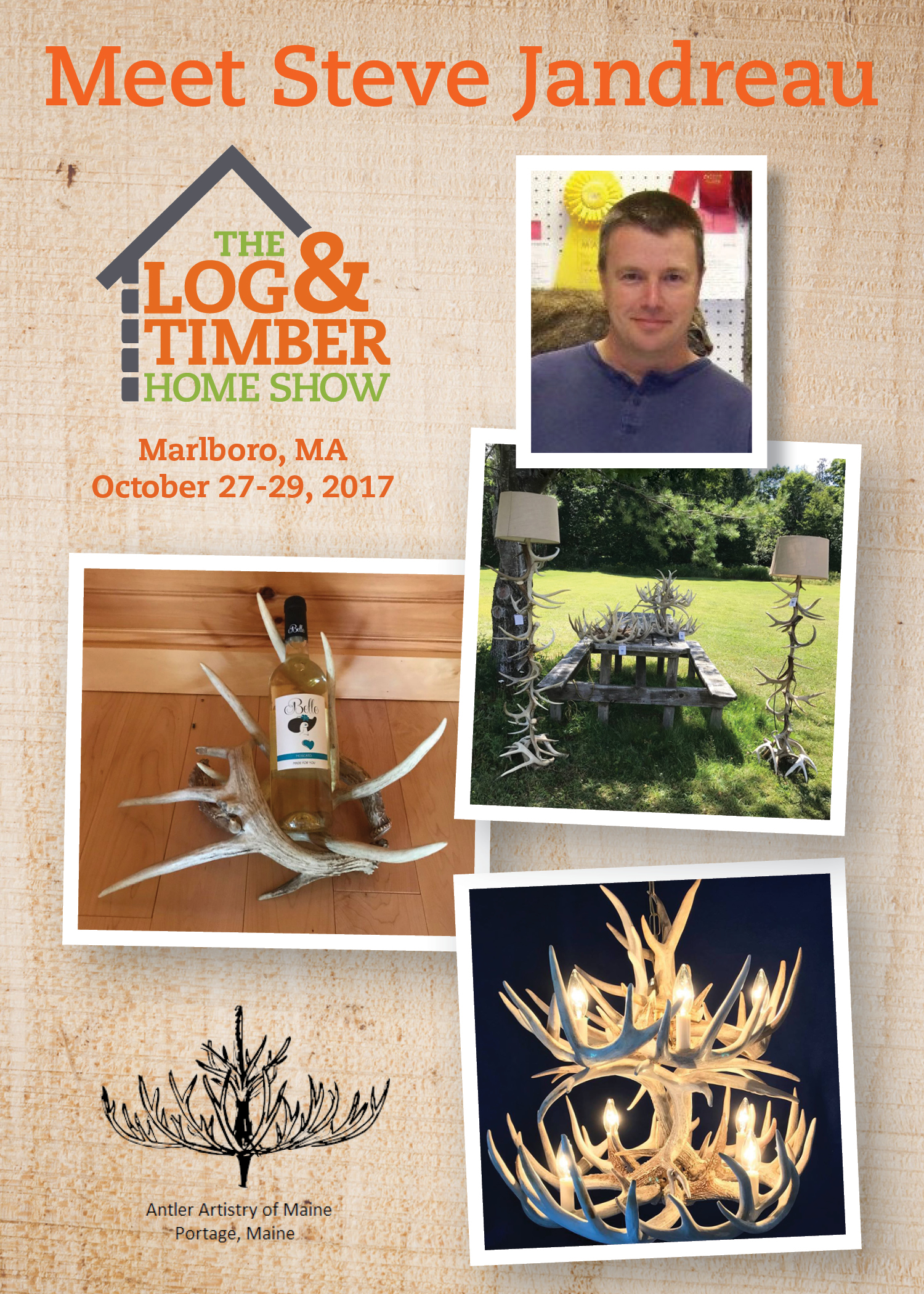 Antler Artistry of ME | MA Log & Timber Home Show | October 27-29, 2017