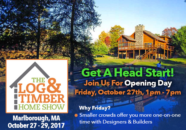 Log & Timber Home Show | Denver, CO | September 29, 2017 | Opening Day | Timber Framing | Log Home Building
