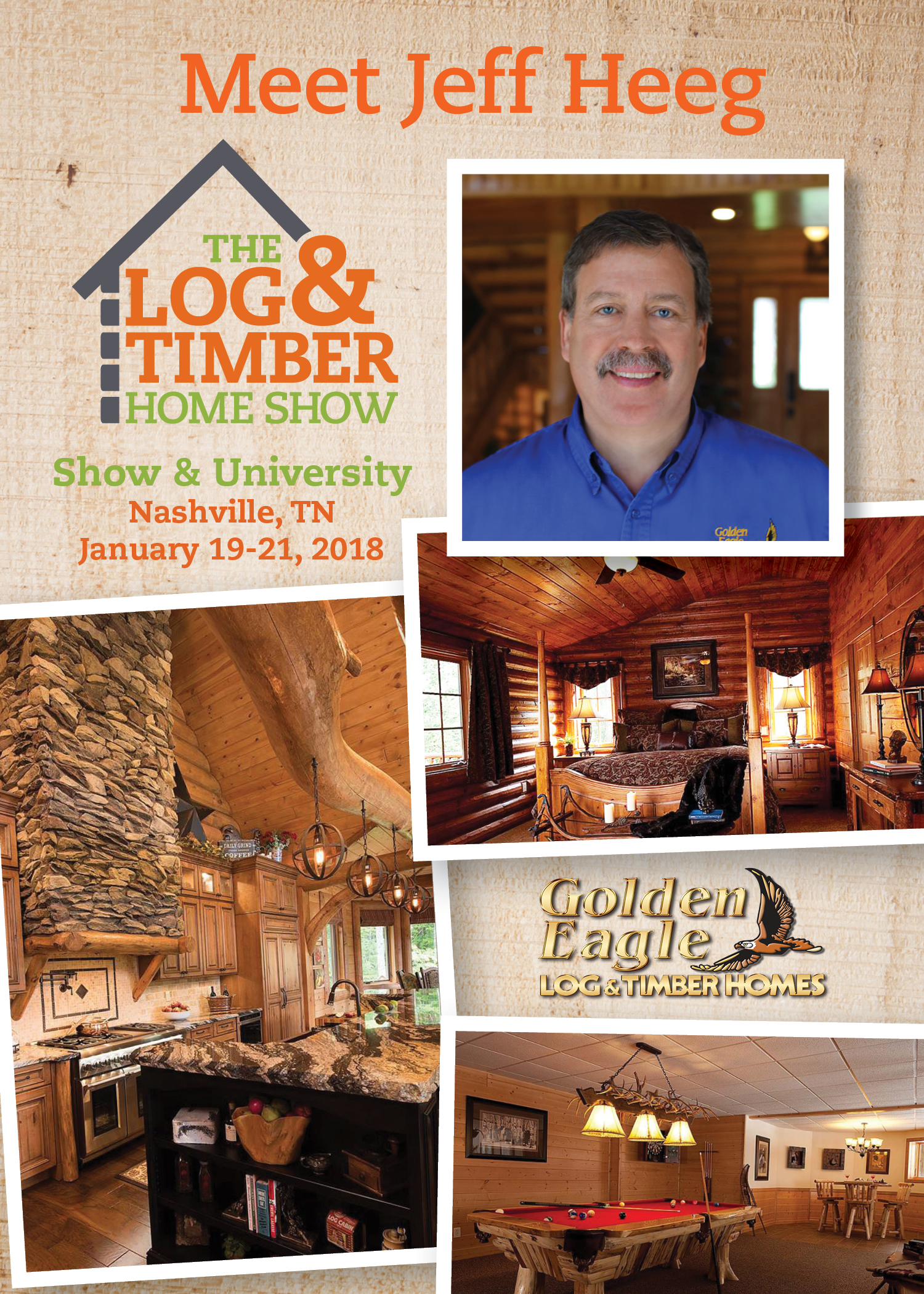 Jeff Heeg | Nashville, TN 2018 | Log & Timber Home Show | Workshop Spotlight | January 19-21, 2018