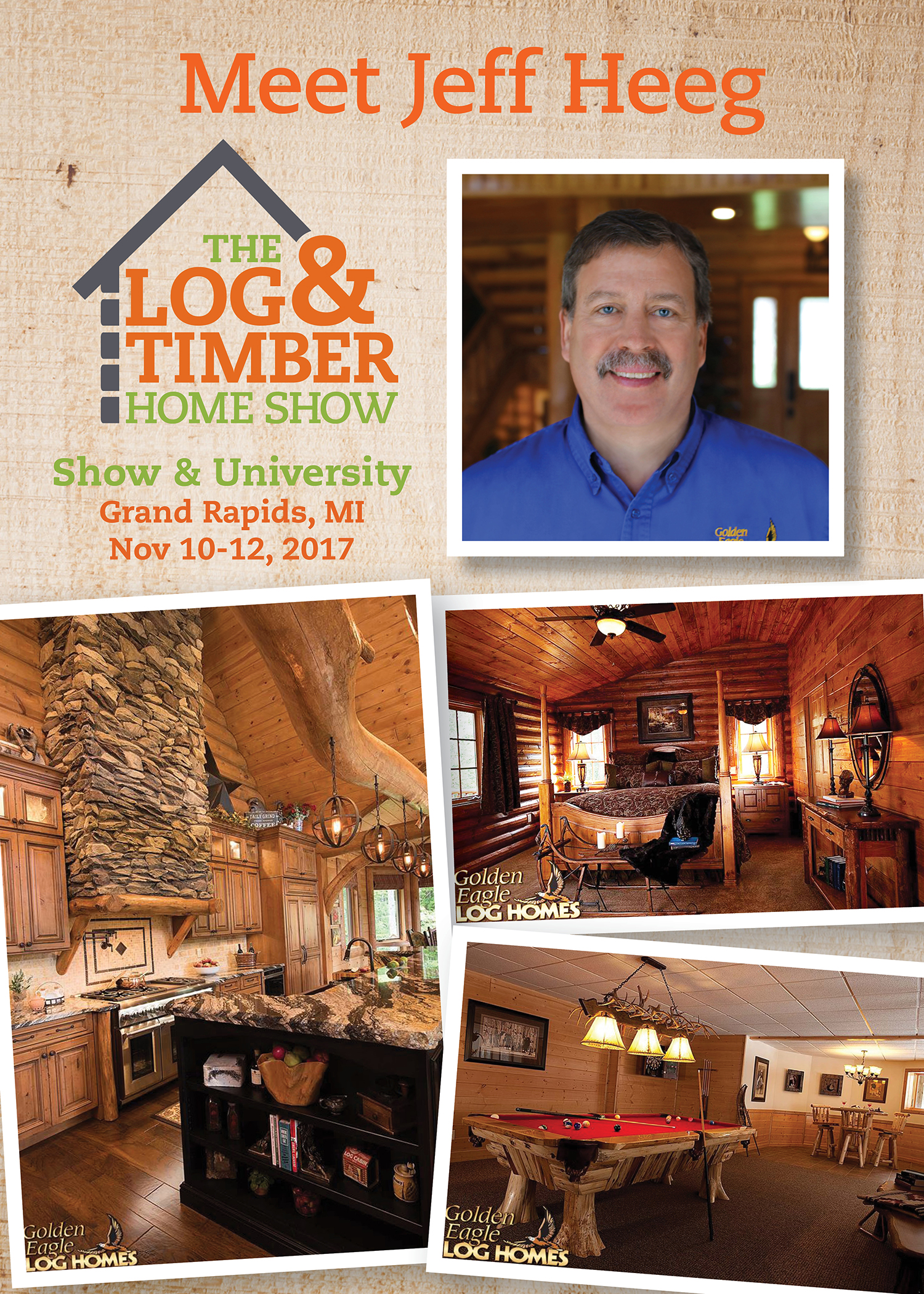 Jeff Heeg Workshop Grand Rapids, MI Log & Timber Home Show 2017