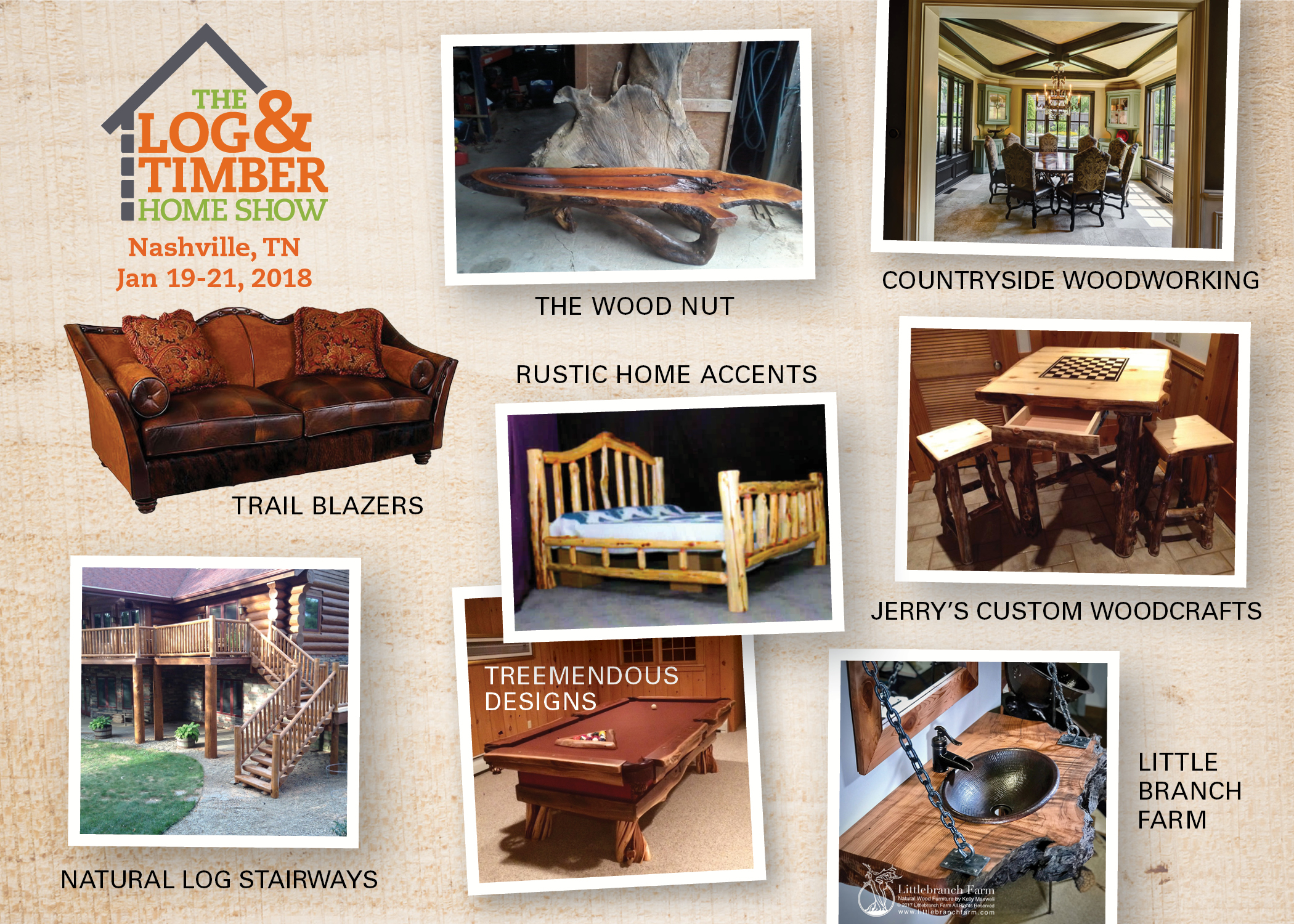 Nashville, TN Log & Timber Home Show | January 19-21, 2018 | Furniture Corner