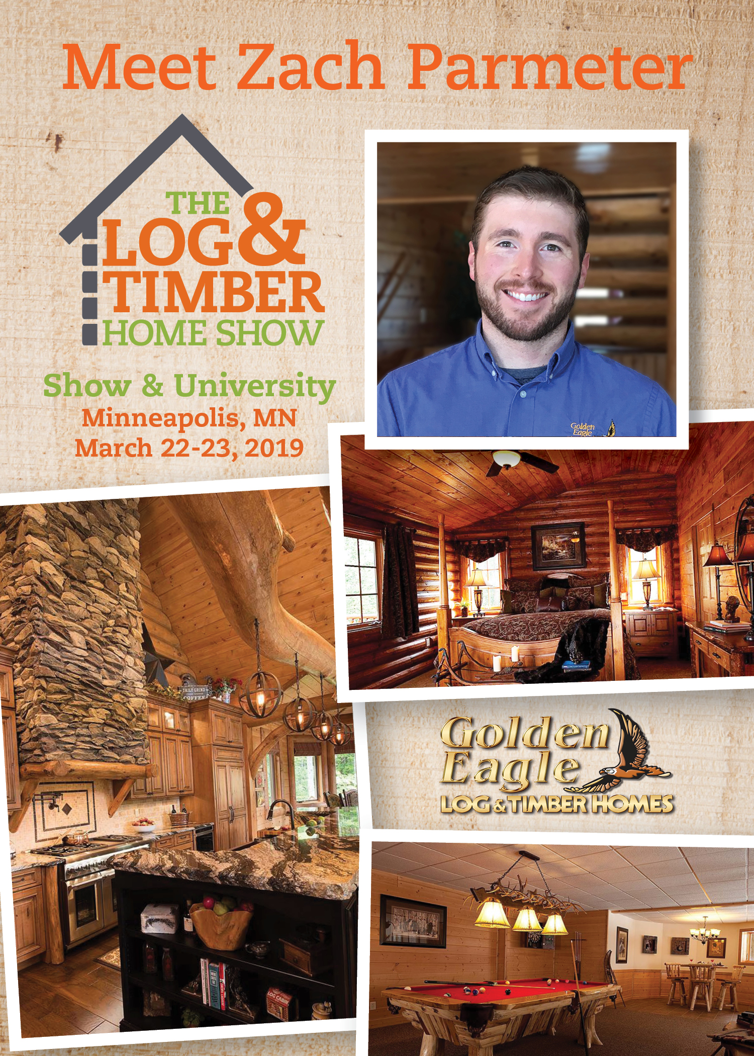 FREE Workshop during 2019 Minneapolis, MN Log & Timber Home Show | March 22-23, 2019 | Golden Eagle Log & Timber Homes | Timber Frame | Log Home