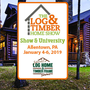 Allentown, PA | Log & Timber Home Show | January 4-6, 2019 | Log Home Builders | Timber Frame Manufacturers | Break Ground